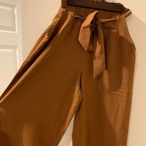 NASTY GAL brown high wasted wide leg pants
